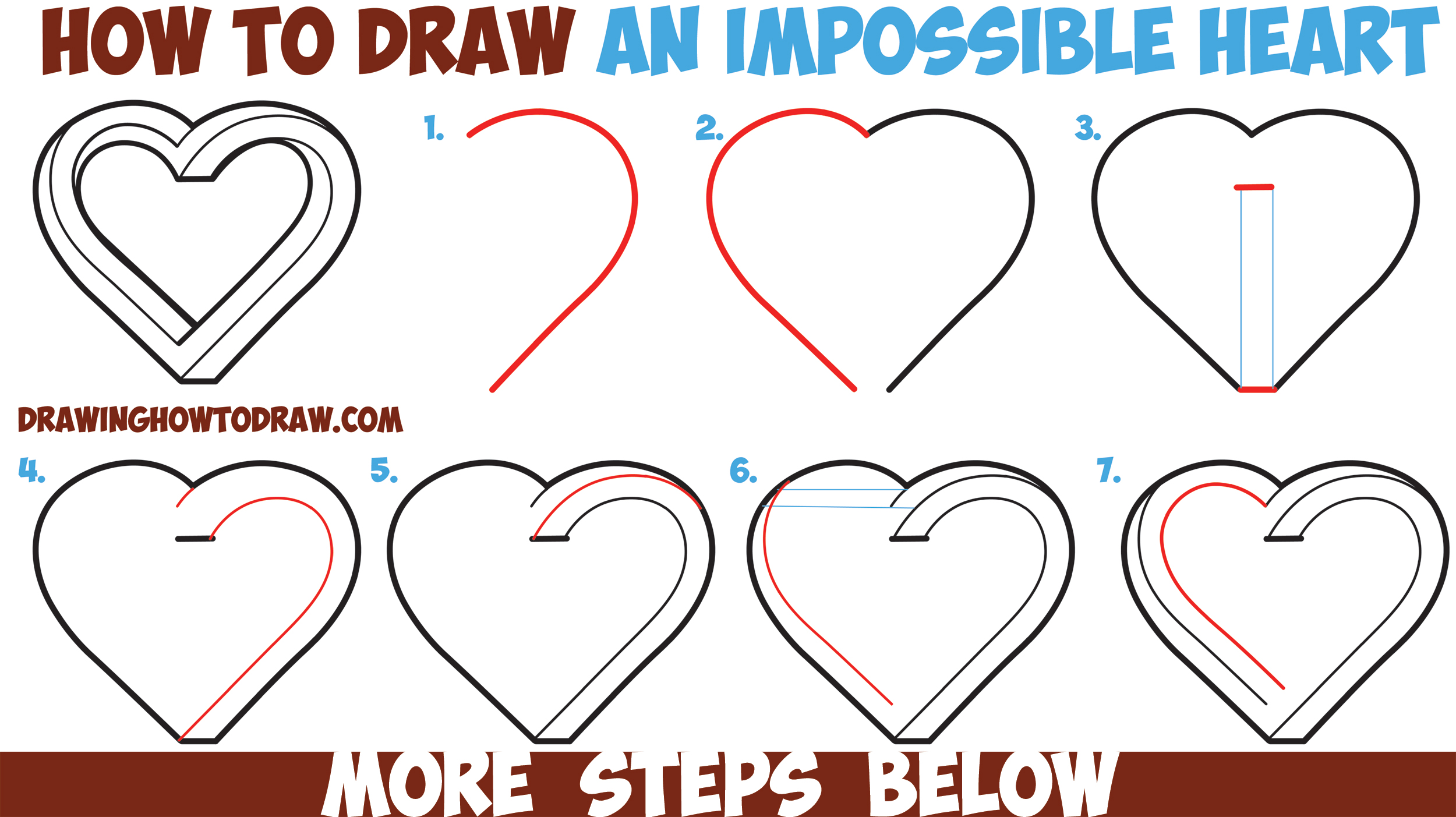 2500x1403 How To Draw An Impossible Heart