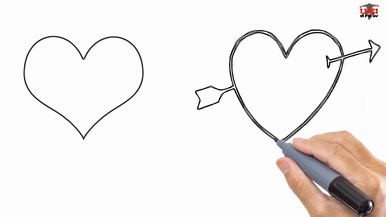 1280x720 Step By Step Drawing Hearts How To Draw A Heart Easy Drawing