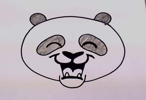 480x327 how to draw a panda bear face