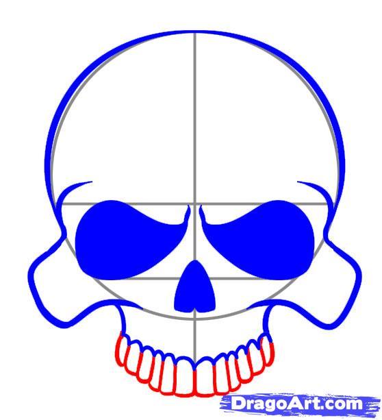 558x613 A Simple Skull Art Techniques Simple Skull