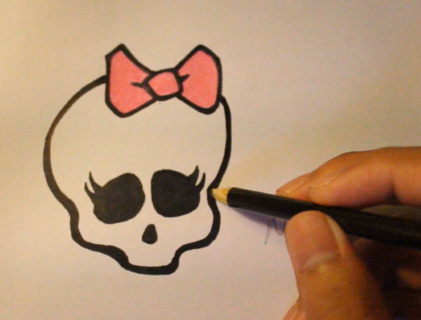 1415x1075 How To Draw Skull From Monster High Step By