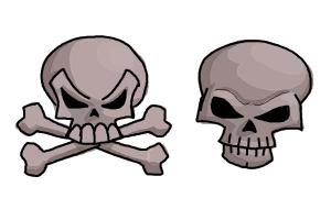 300x200 How To Draw Skulls