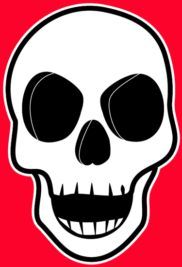 375x549 How To Draw A Creepie Cartoon Skull For Halloween With Easy Steps