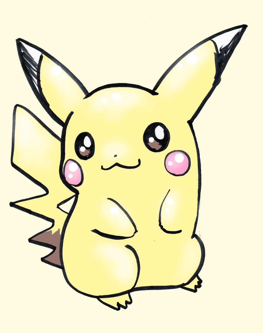 900x1140 Pikachu Clipart Easy Draw Pencil And In Color Pikachu Clipart