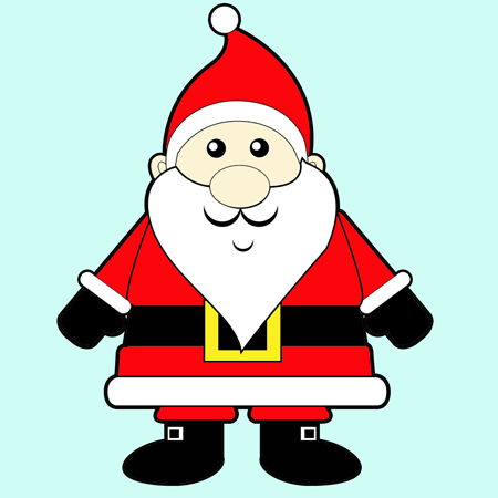 450x450 An Easy Cartoon Santa Clause To Learn How To Draw Step By Step