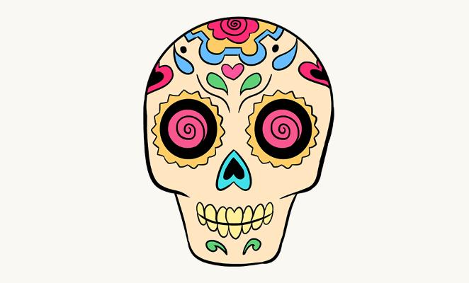 662x400 Easy Drawings Of Skulls Group