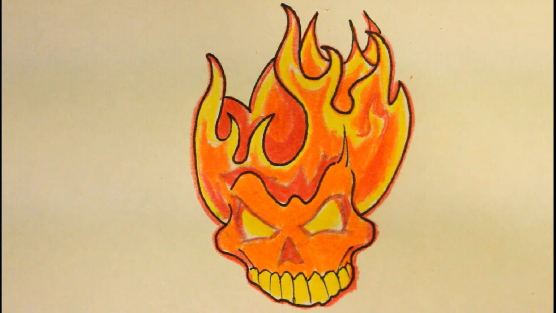 1920x1080 How To Draw A Skull On Fire With Flameseasy For Beginners