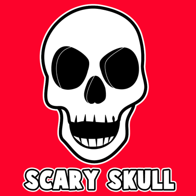 400x400 How To Draw A Creepie Cartoon Skull For Halloween With Easy Steps