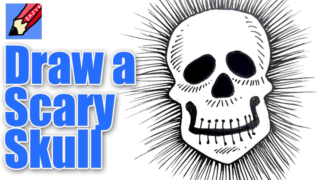 1280x720 How To Draw A Scary Skull Real Easy