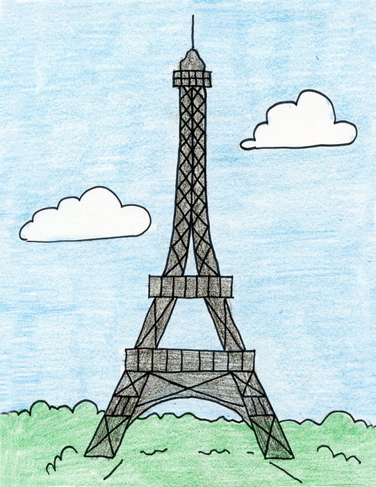 541x700 How To Draw The Eiffel Tower
