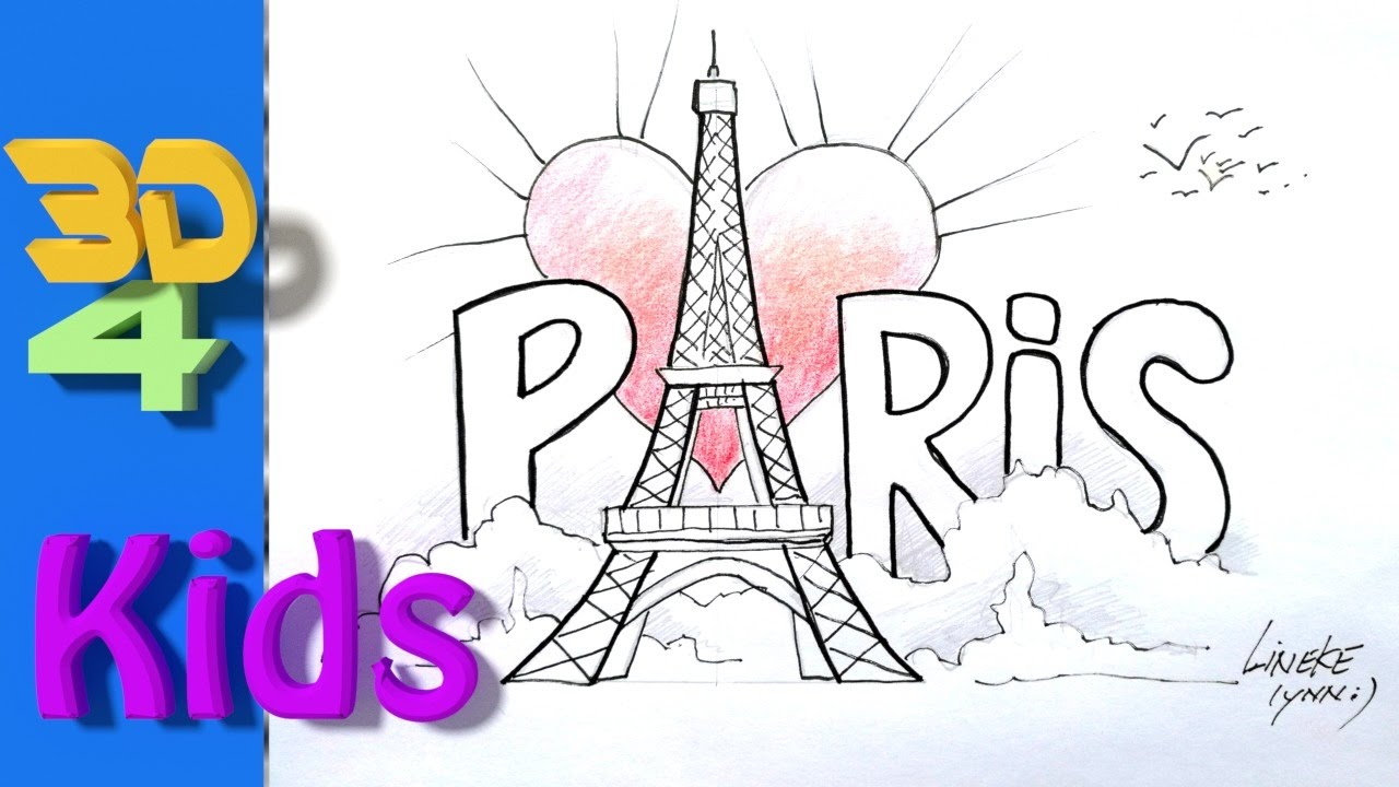 1280x720 Easy Paris Drawing How To Draw The Eiffel Tower For Kids
