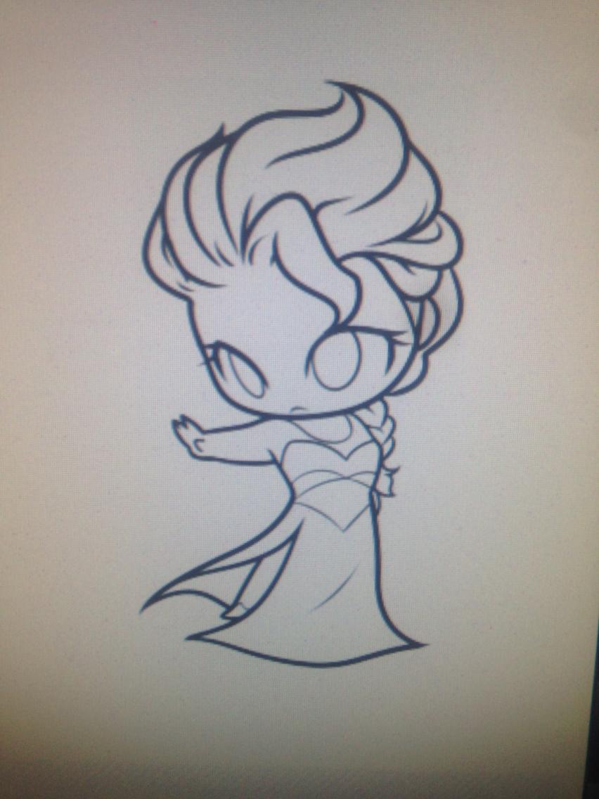 852x1136 Super Easy Chibi Elsa From Frozen Drawing Drew It.