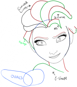 300x338 Step06 Elsa From Frozen Drawings Elsa, Drawings