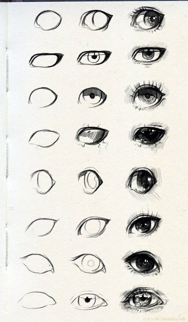 600x1026 How To Draw An Eye