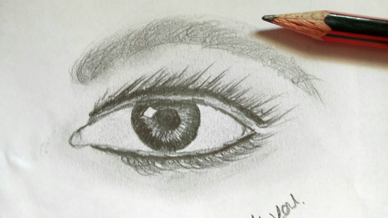 1280x720 How To Draw Realistic Eyes Easy Step By Step Art Drawing
