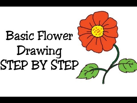 480x360 How To Draw Basic Flower And Coloring For Kids Beginners Step