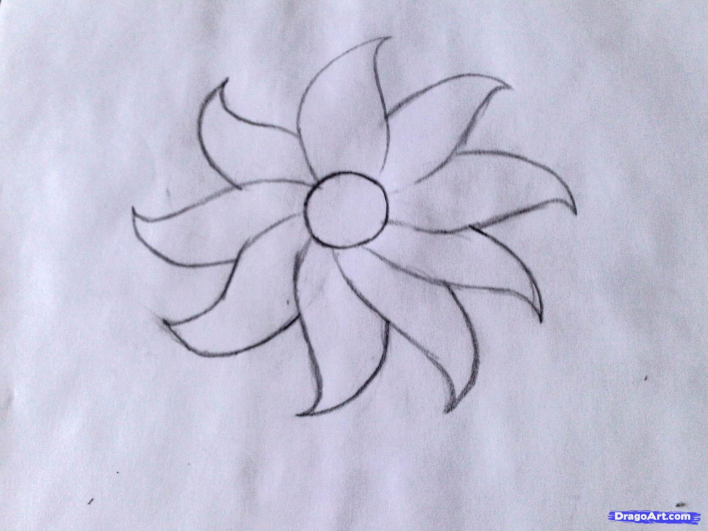 Line Drawing Of Flowers Clipart : Easy flowers drawing at getdrawings.com free for personal use