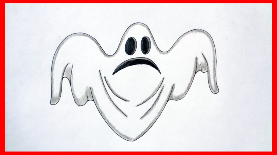 933x525 How To Draw A Ghost Halloween Stuff Pictures Characters Youtube