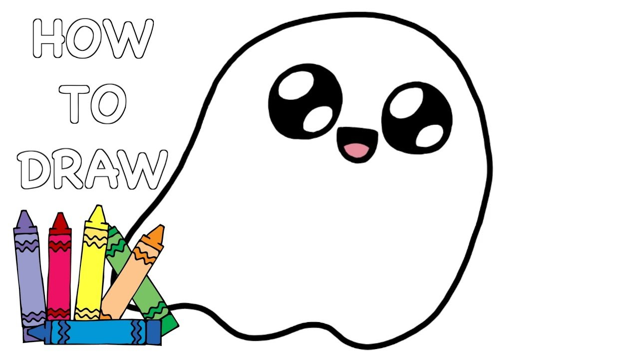1280x720 How To Draw Cute Ghost