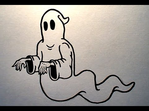 480x360 How To Draw A Simple Ghost (Easy)