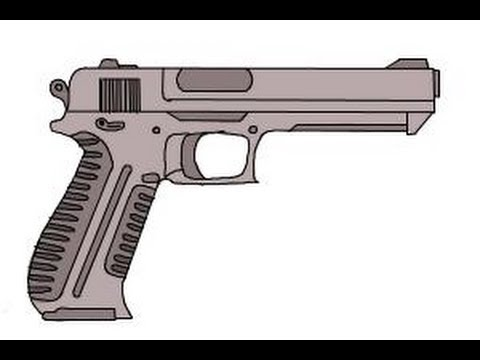 480x360 How To Draw A Gun Easy
