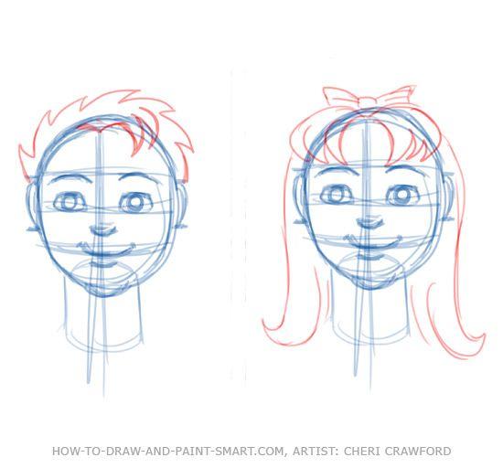 550x512 Draw A Human Face Drawing 7 Art Ed Drawing Skills