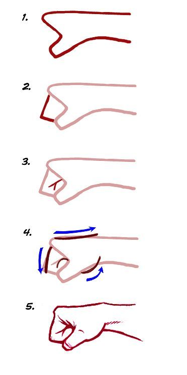 372x746 How To Draw A Fist. I Don'T Usually Draw Humans, But It May Come