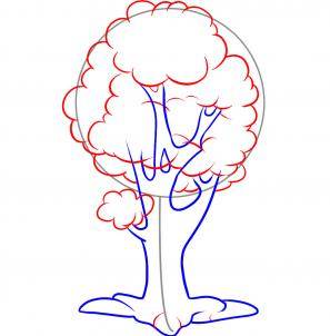 297x302 How To Draw How To Draw An Easy Tree