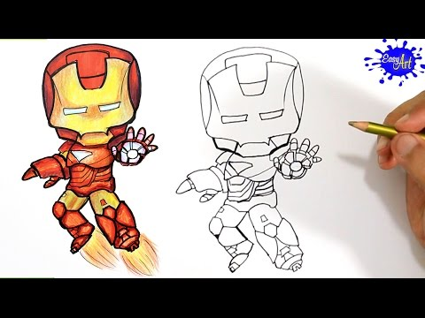 480x360 How To Draw Ironman Step By Step Como Dibujar Ironman Paso