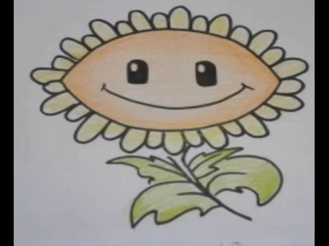 480x360 Easy Kids Drawing Lessons How To Draw Sunflower Easy Step By Step