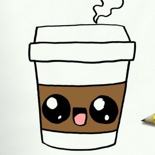 320x320 How To Draw A Coffee Cute Easy Step By Step Drawing Lessons