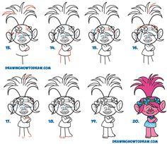 236x204 How To Draw Poppy From The Dreamworks Trolls Movie