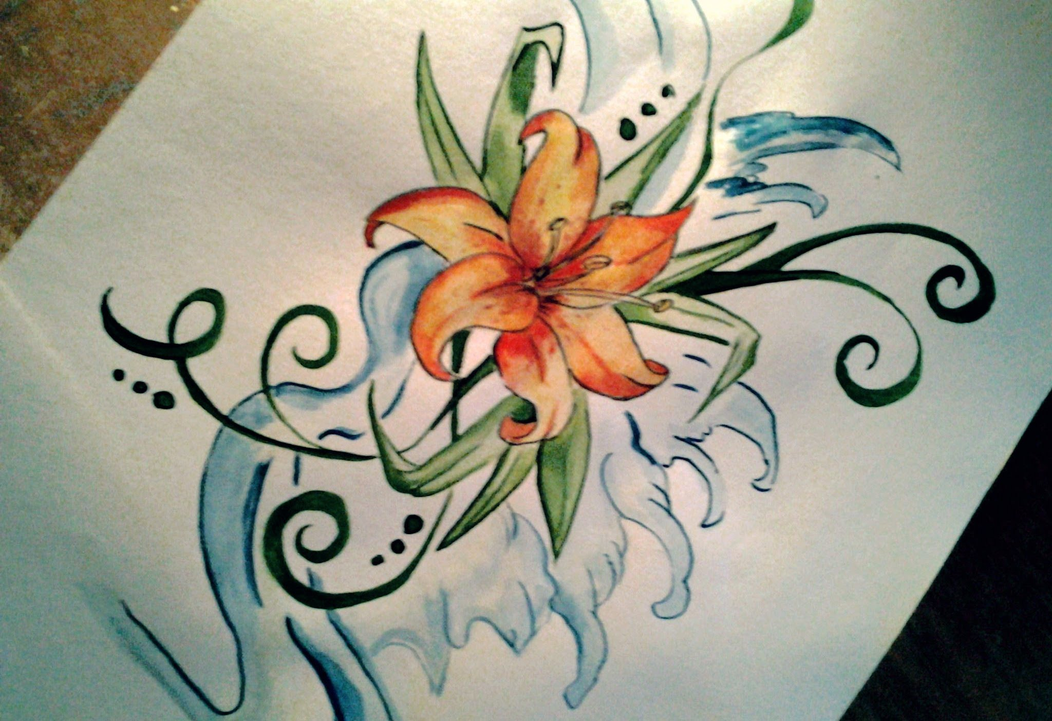 2048x1404 Easy Lily Tattoo Drawing