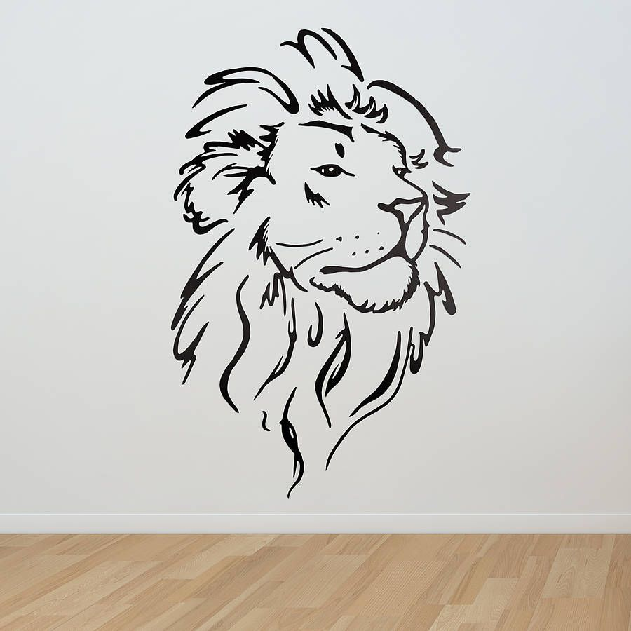 900x900 Lion Head Wall Sticker Wall Sticker, Lions And Walls