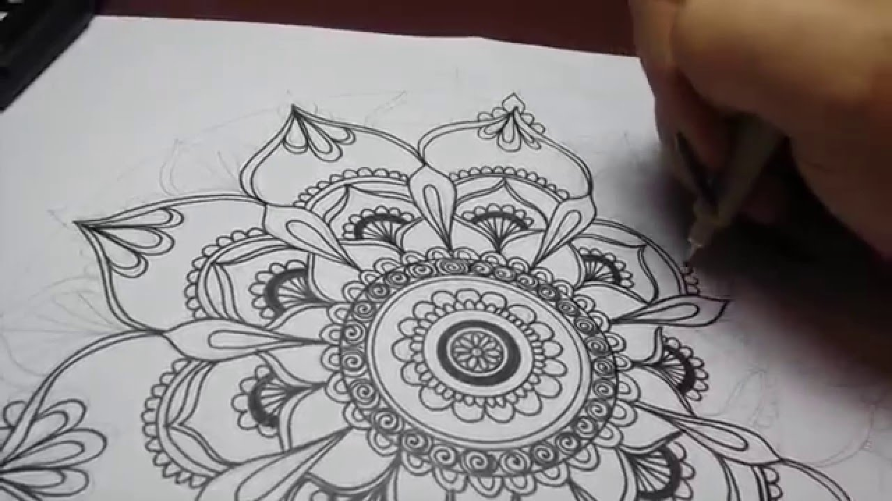 1280x720 Art Projects Easy Mandala Drawing Speed Drawing