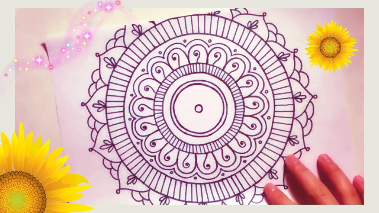 1280x721 Draw A Super Simple Amp Cute Mandala For Beginners!