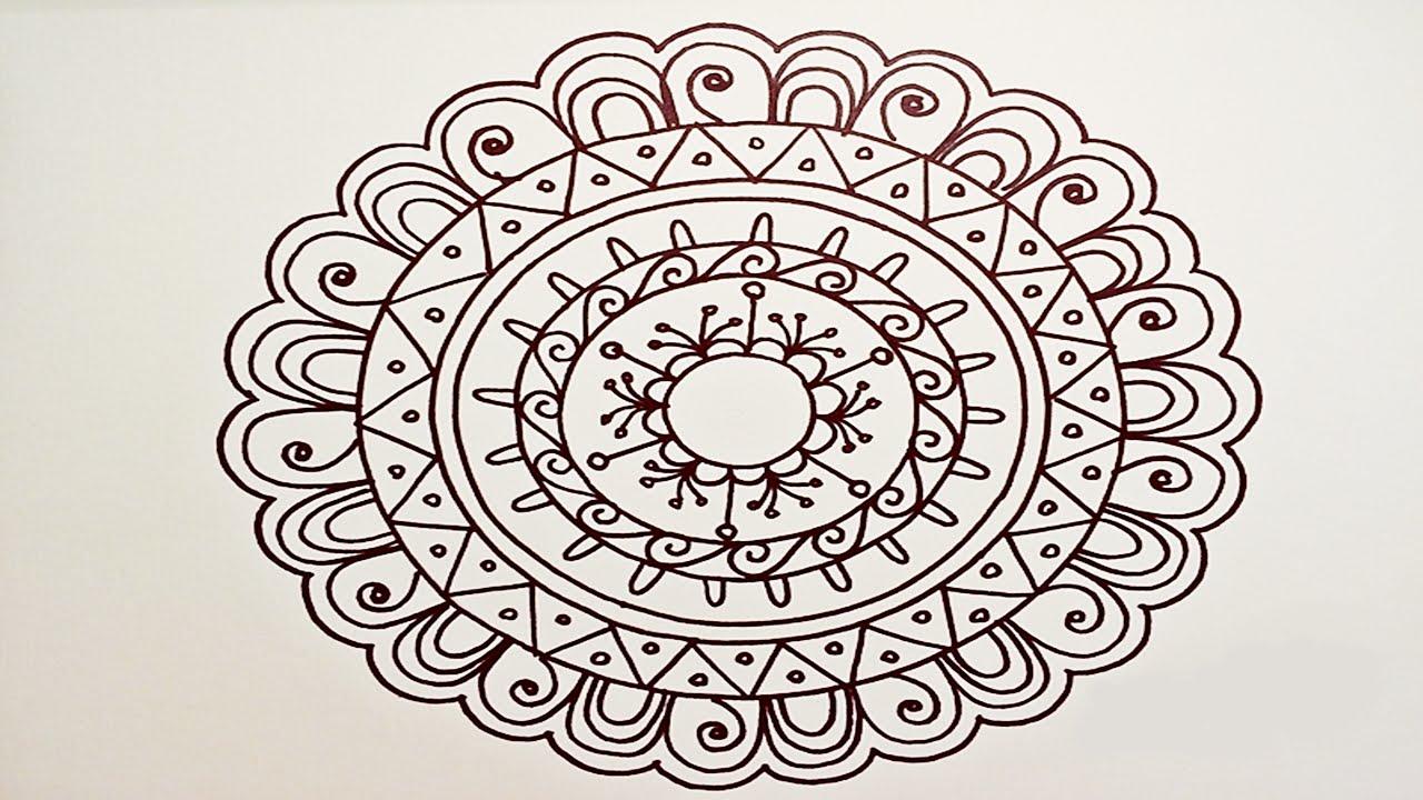 1280x720 Drawing A Easy Amp Fun Mandala For Beginners