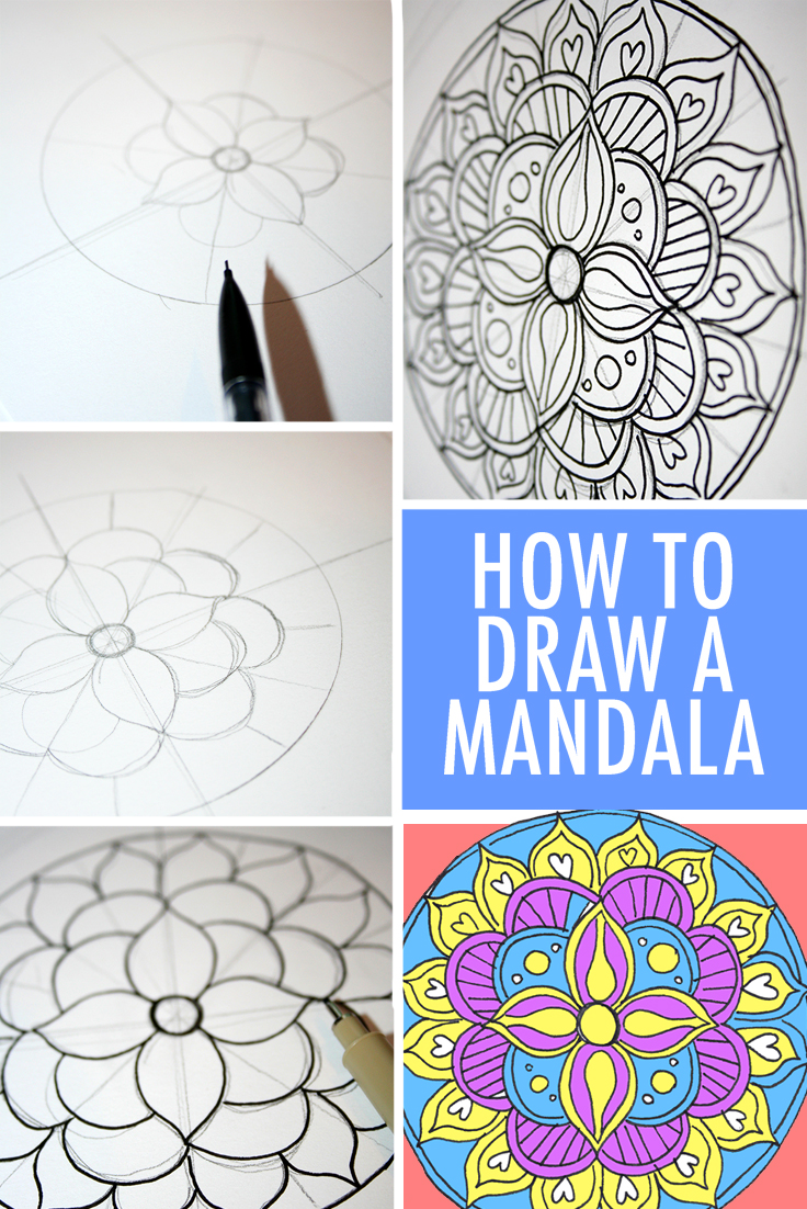 736x1102 How To Draw A Mandala (With Free Coloring Pages!)