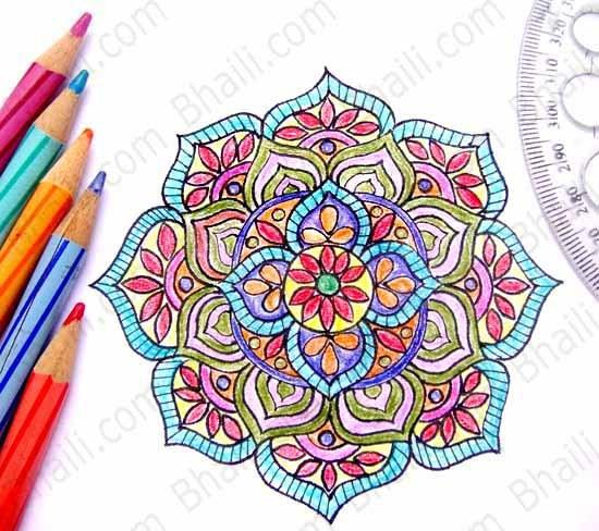 550x488 How To Draw A Mandala In 6 Easy Steps Bhaili Your Friend