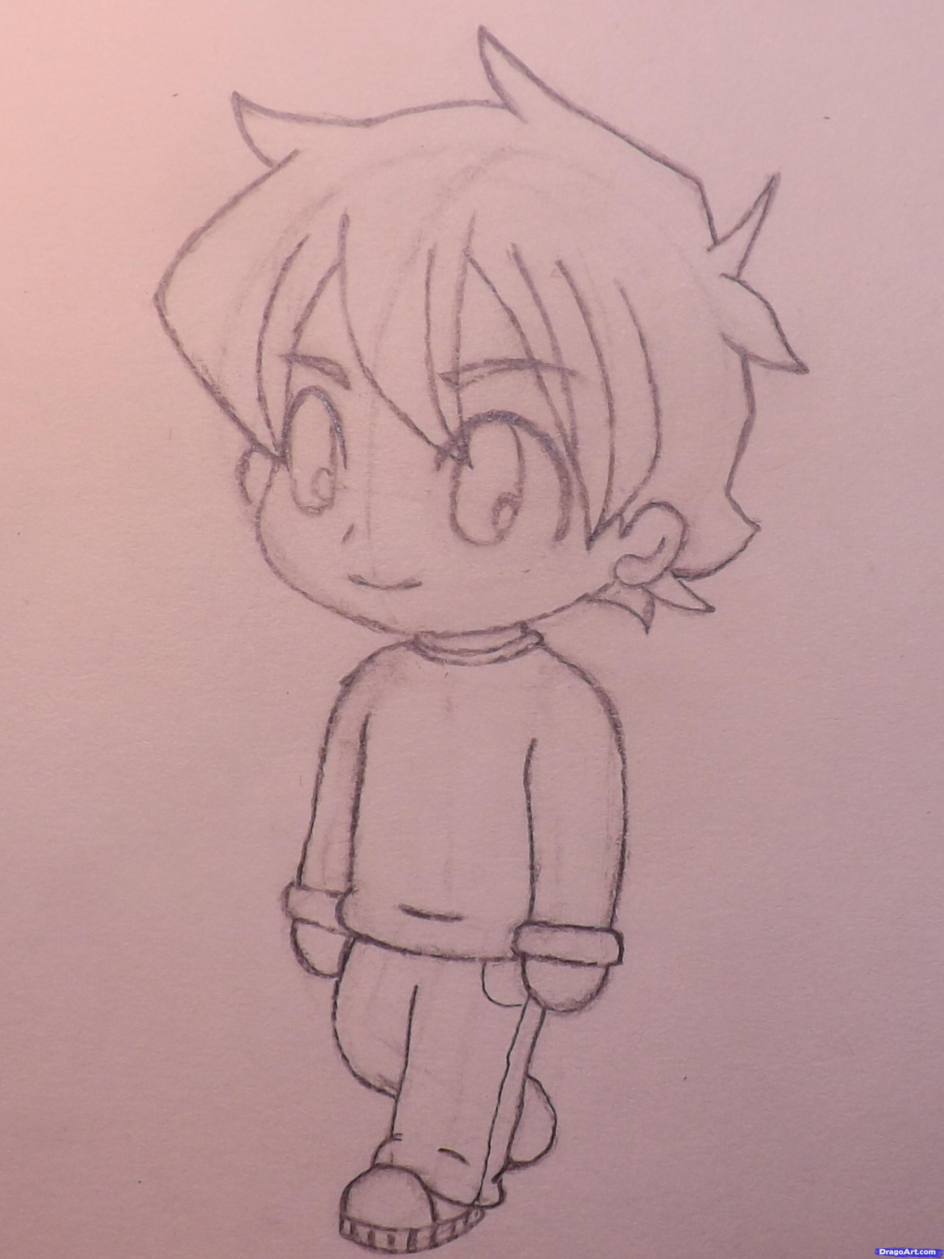 3216x4288 Easy Manga Drawing Boy Learn How To Draw A Chibi Boy, Chibis, Draw