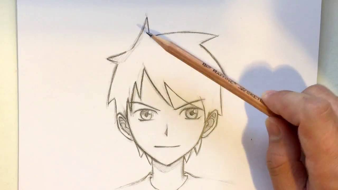1280x720 Easy Manga Drawings Boys How To Draw Anime Boy Hair [Slow Narrated