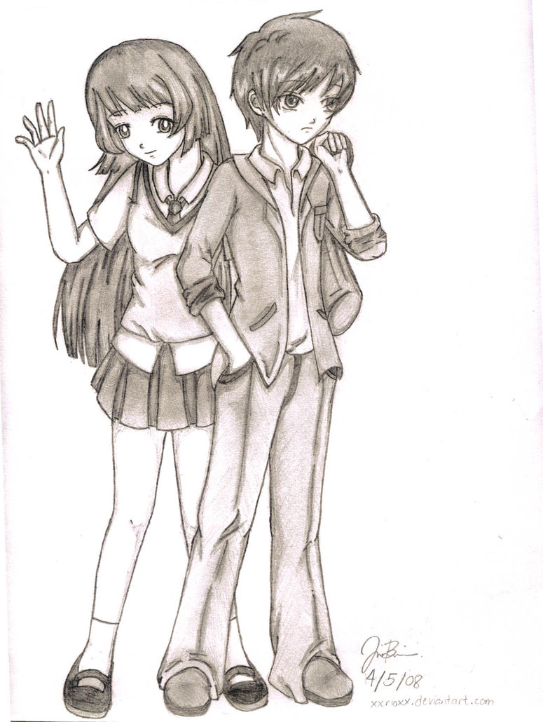 775x1030 Easy Anime Drawings Random Anime Couple By ~xxrioxx