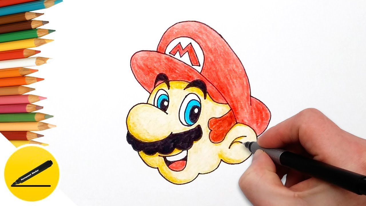 1280x720 How To Draw Mario (Super Mario Odyssey) Step By Step