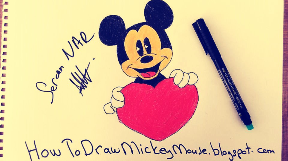 960x539 Easiest Way To Draw Mickey Mouse Face Easy Mickey Mouse Drawings