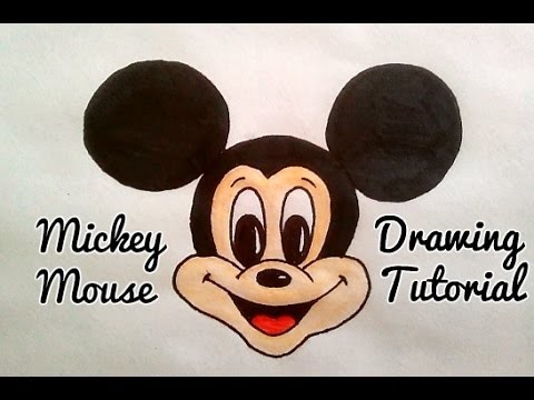 480x360 Easy Mickey Mouse Cartoon Face Step By Step Drawing Tutorial For Kids