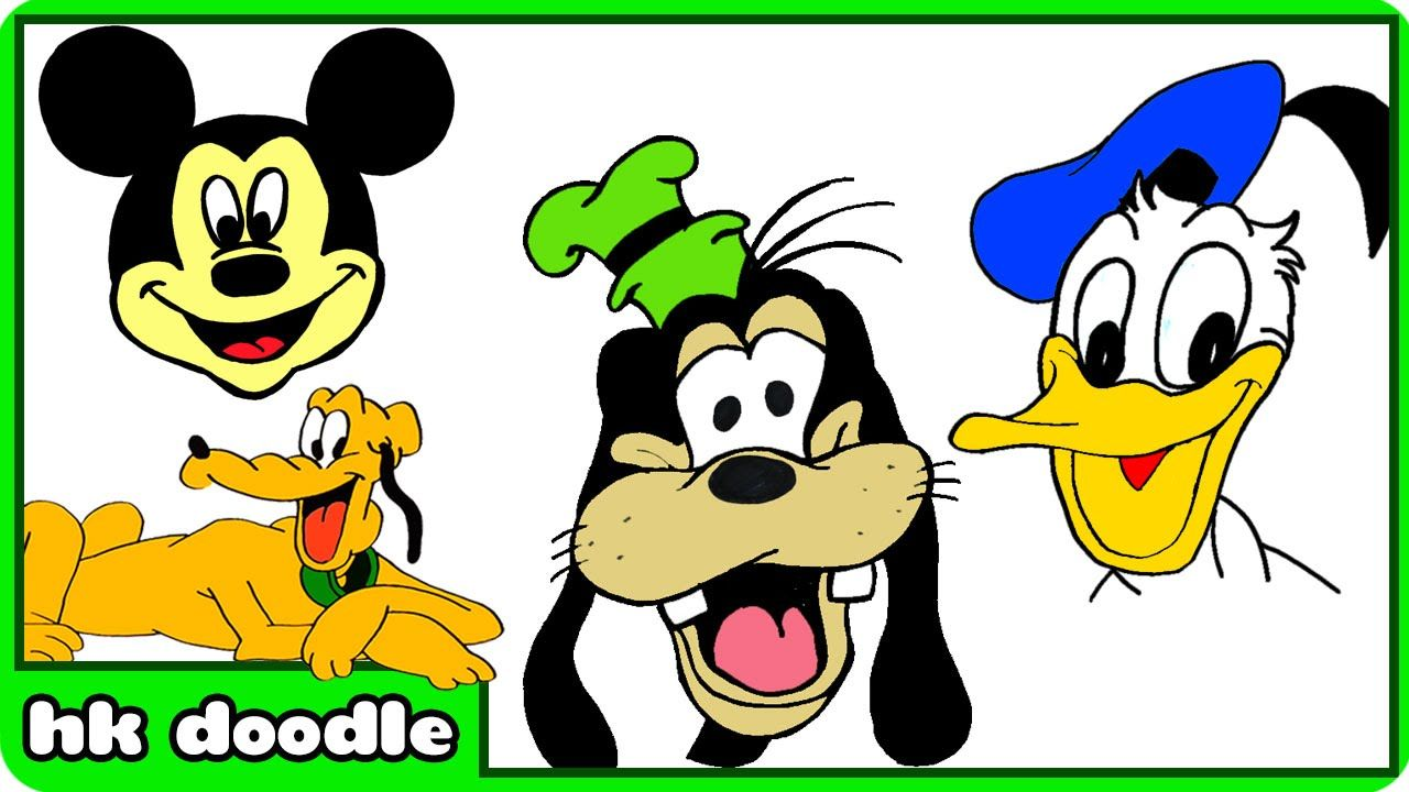1280x720 How To Draw Disney Mickey Mouse Clubhouse Characters