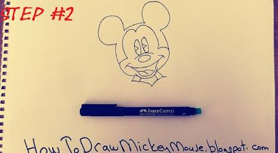 400x220 Easiest Way To Draw Mickey Mouse Face Easy Mickey Mouse Drawings