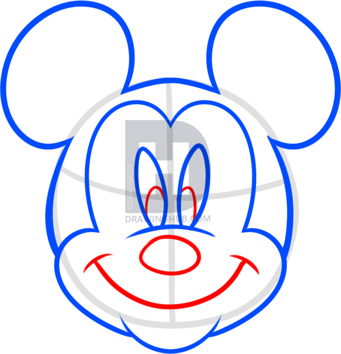 695x720 Pictures Mickey Mouse Draw Easy,