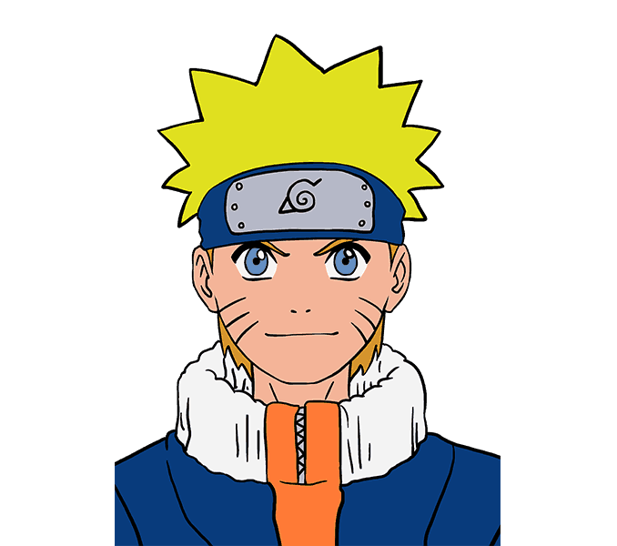 678x600 How To Draw Naruto In A Few Easy Steps Easy Drawing Guides