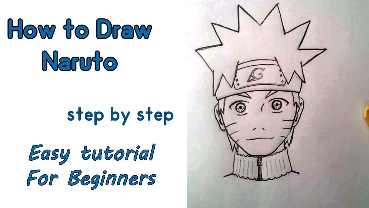 1280x720 How To Draw Naruto For Beginners Step By Step